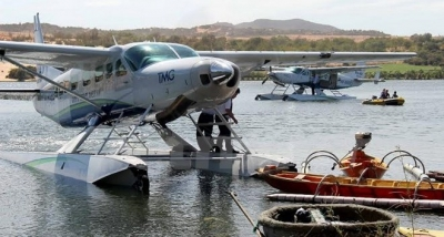 Central province welcomes first tourists boarding seaplanes