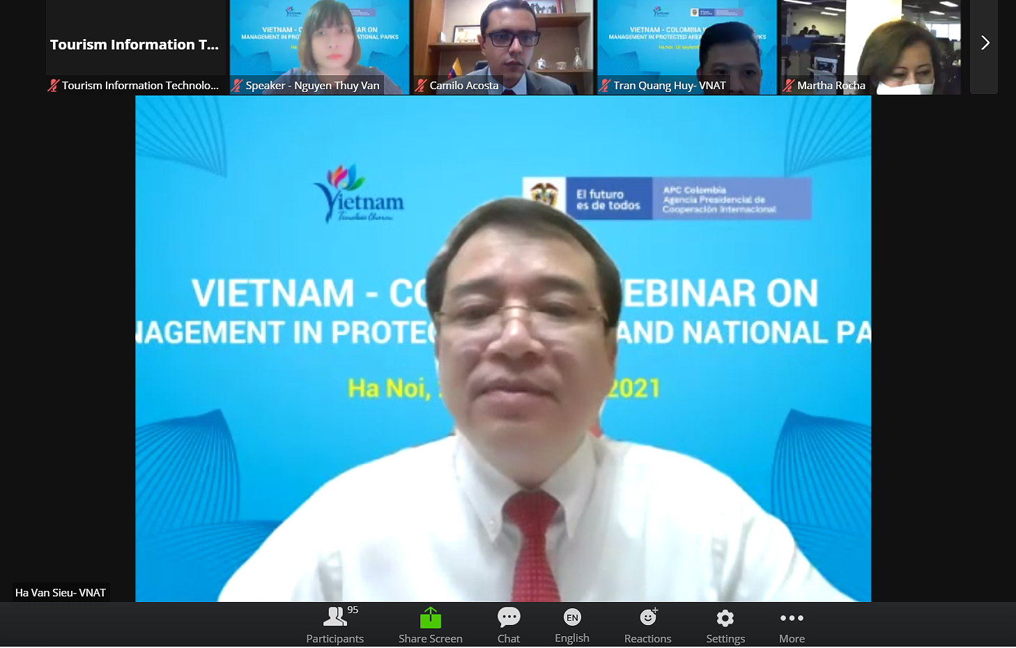 Vietnam and Colombia shares about management in protected areas and national parks